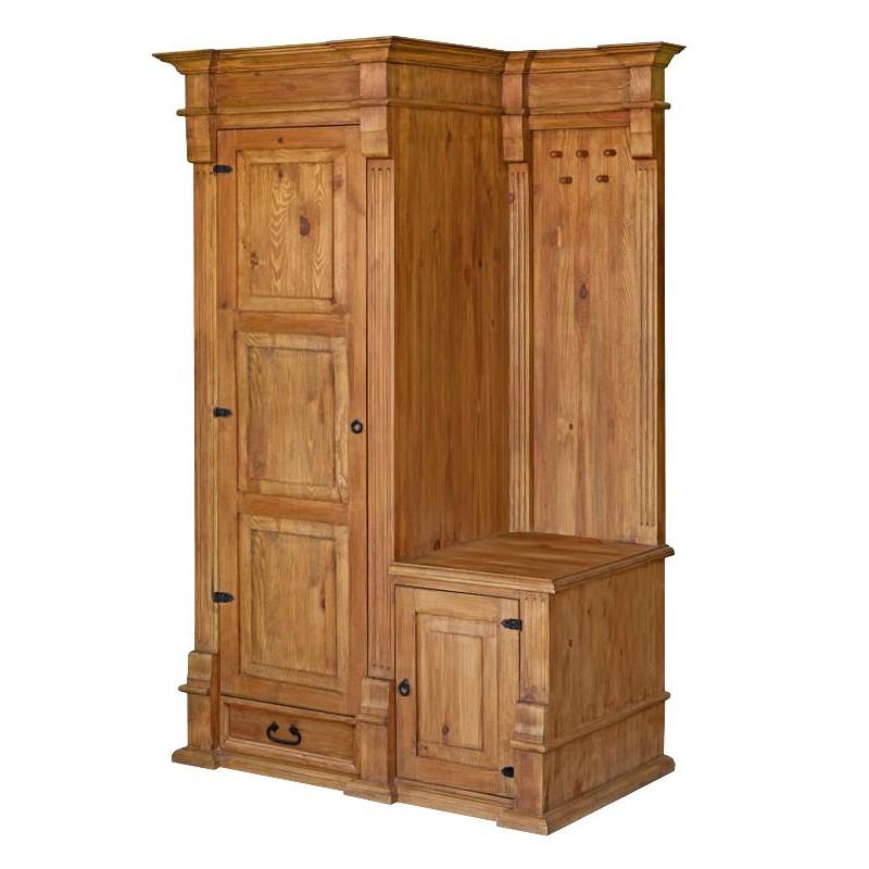 Garderoba z litego drewna Hacienda 02 w stylu retro>                                         <span class=