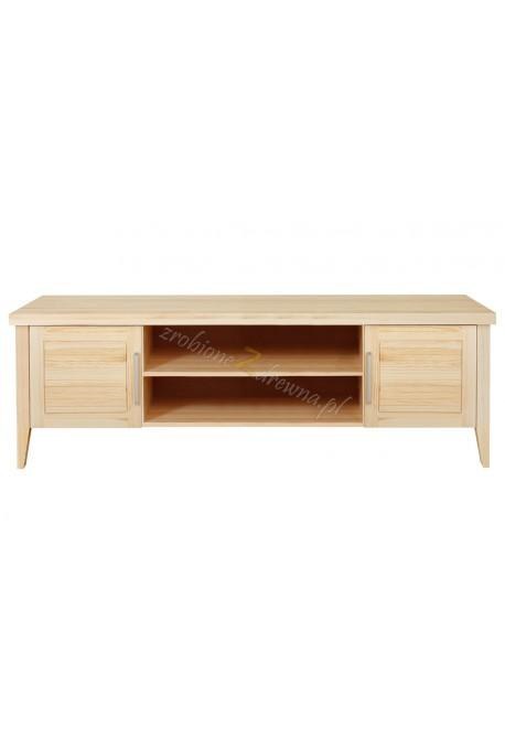 Nowoczesna szafka RTV z litego drewna Torino 38 do salonu