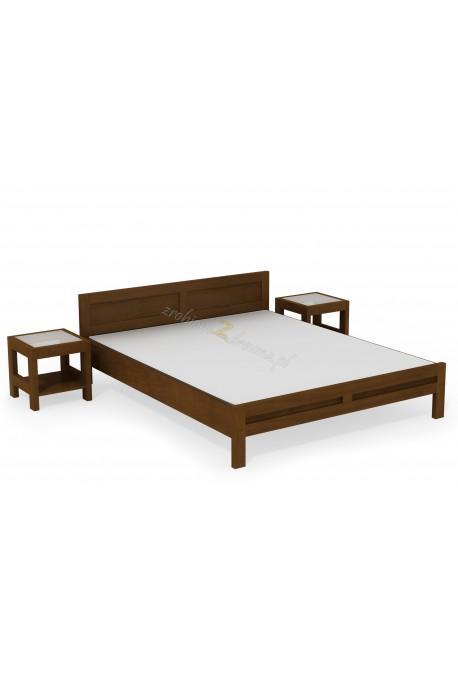 Woskowane łóżko brzozowe Rodan 35 do sypialni