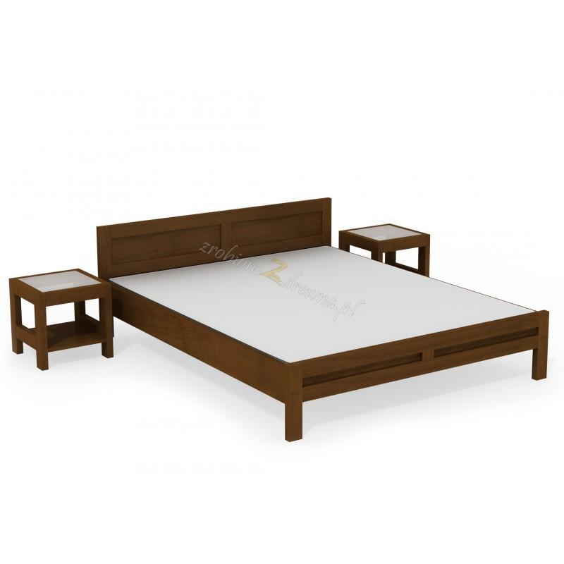 Woskowane łóżko brzozowe Rodan 35 do sypialni>                                         <span class=