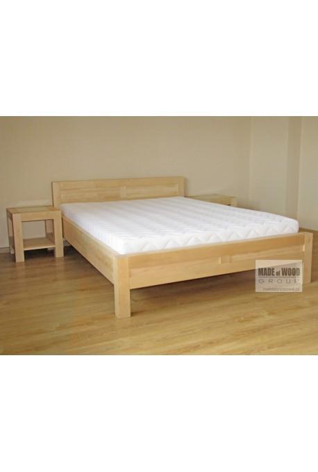 Nowoczesne łóżko Rodan 36 z litego drewna brzozowego