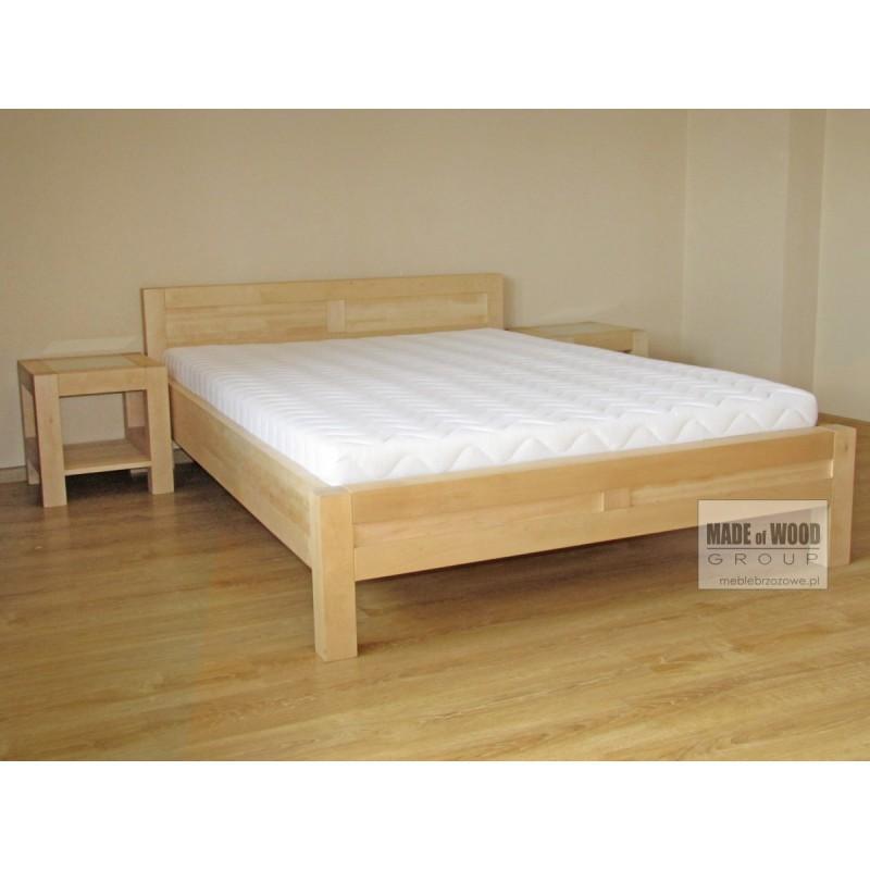 Nowoczesne łóżko Rodan 36 z litego drewna brzozowego>                                         <span class=
