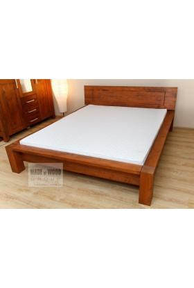Woskowane łóżko brzozowe Rodan 39 do sypialni
