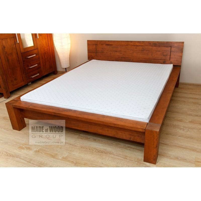 Woskowane łóżko brzozowe Rodan 39 do sypialni>                                         <span class=