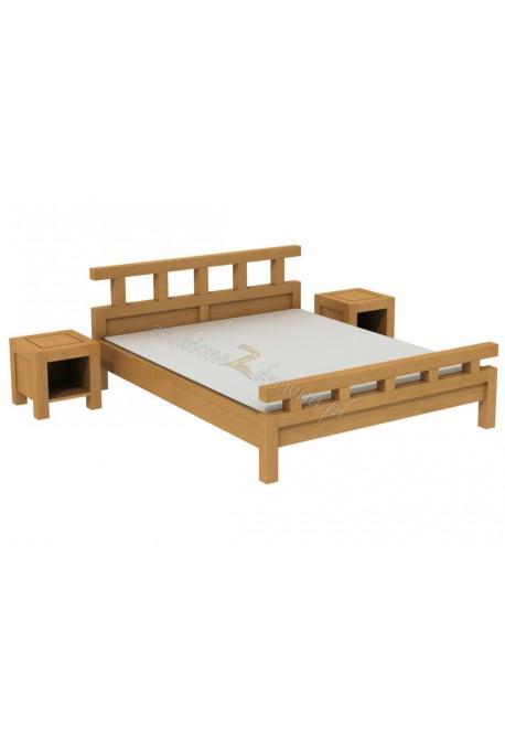 Woskowane łóżko brzozowe Rodan 42 do sypialni