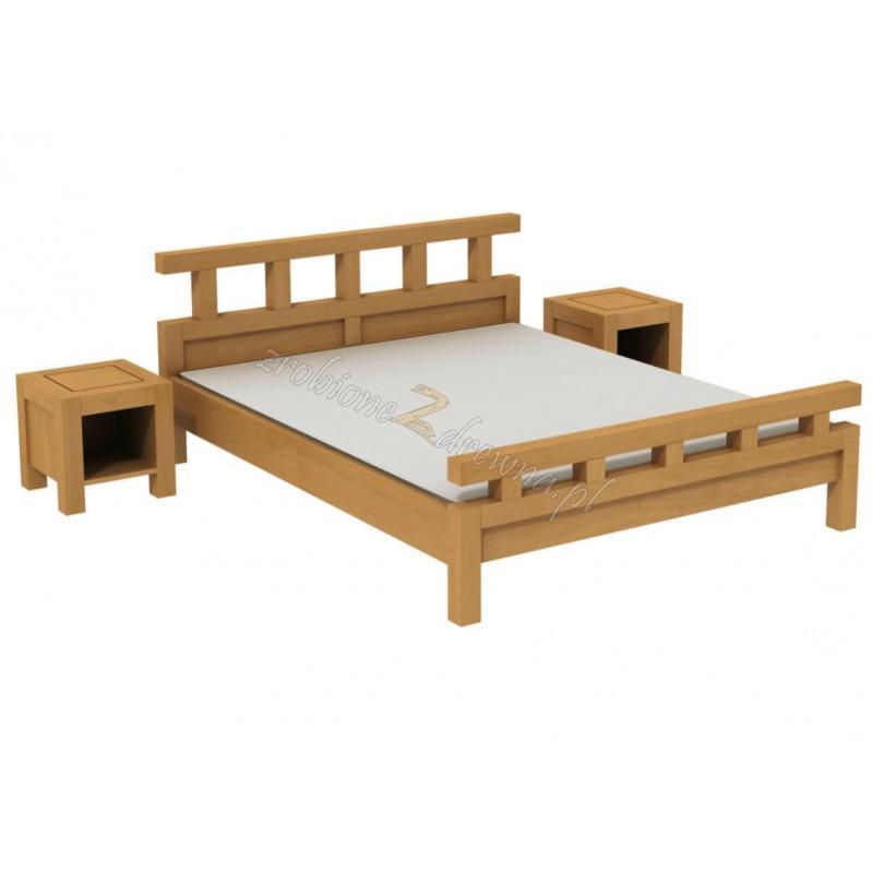 Woskowane łóżko brzozowe Rodan 42 do sypialni>                                         <span class=
