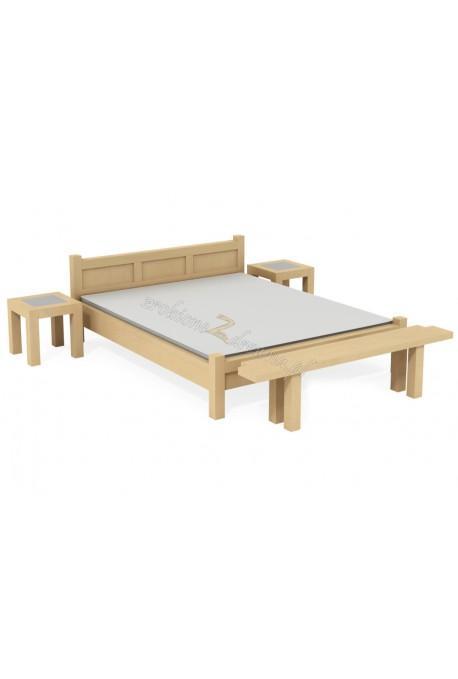 Nowoczesne łóżko Rodan 43 z litego drewna brzozowego