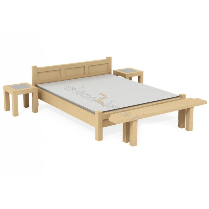 Nowoczesne łóżko Rodan 43 z litego drewna brzozowego>                                         <span class=