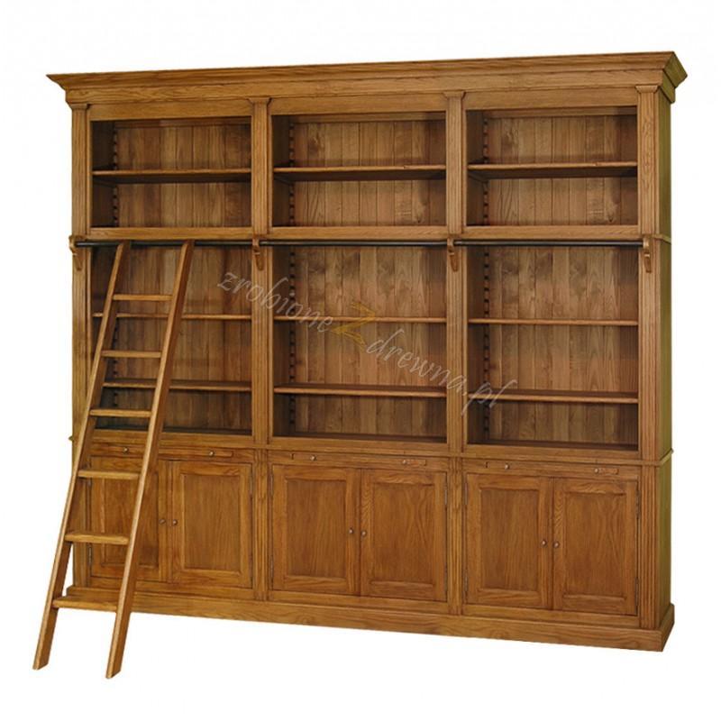 Regał z litego drewna Nicea 09 w stylu prowansalskim>                                         <span class=