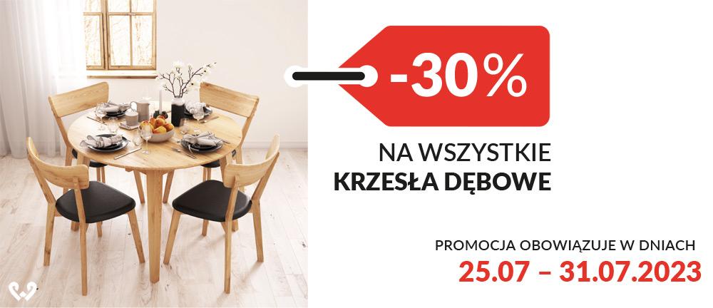 Krzesła dębowe -30%