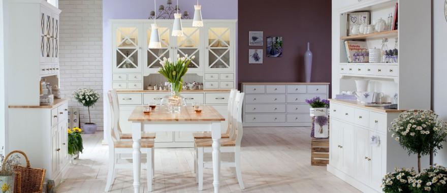Białe meble z litego drewna Nicea