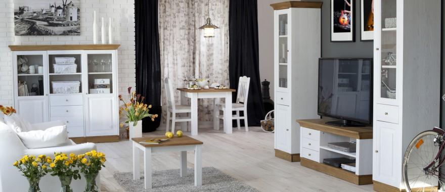 Białe meble drewniane Roma
