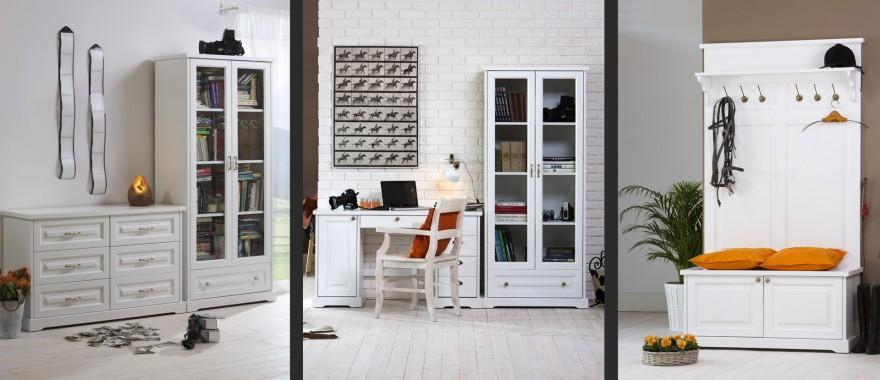 Biała komoda witryna garderoba Parma