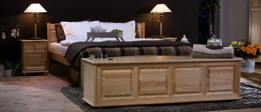Łóżko i nakastliki sosnowe Klasyczne