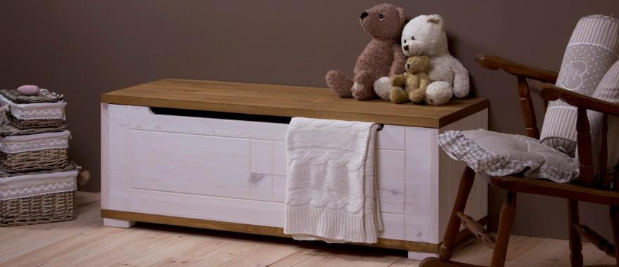 Biały kufer dziecięcy Genua