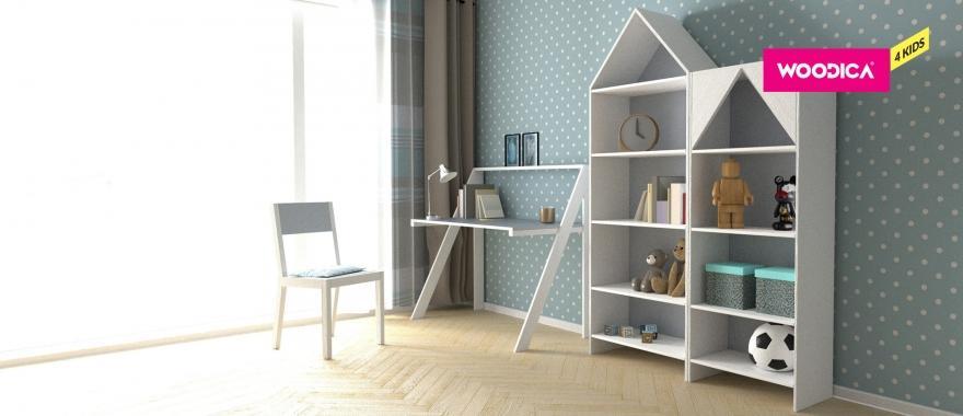 Regały i biurko dziecięce Home