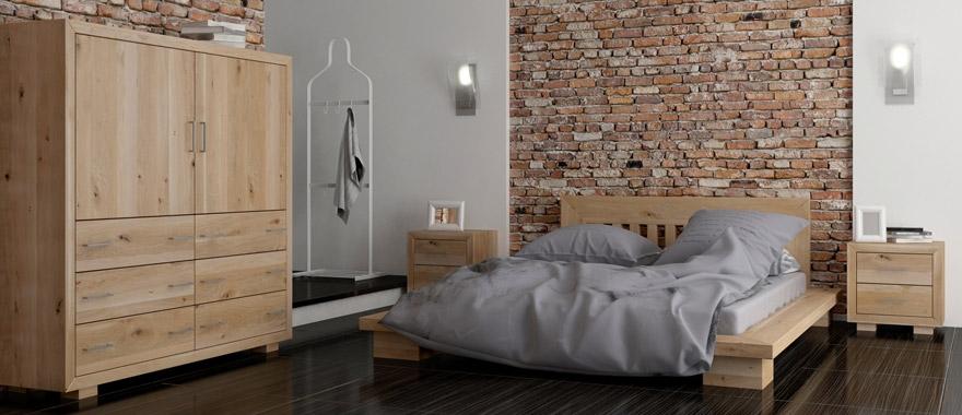 Meble dębowe Cerasus komplet do sypialni