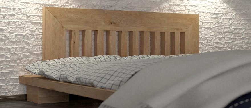 Łóżko dębowe Cerasus lity dąb