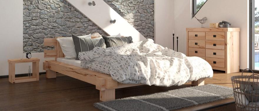 Meble dębowe Muscari komplet do sypialni