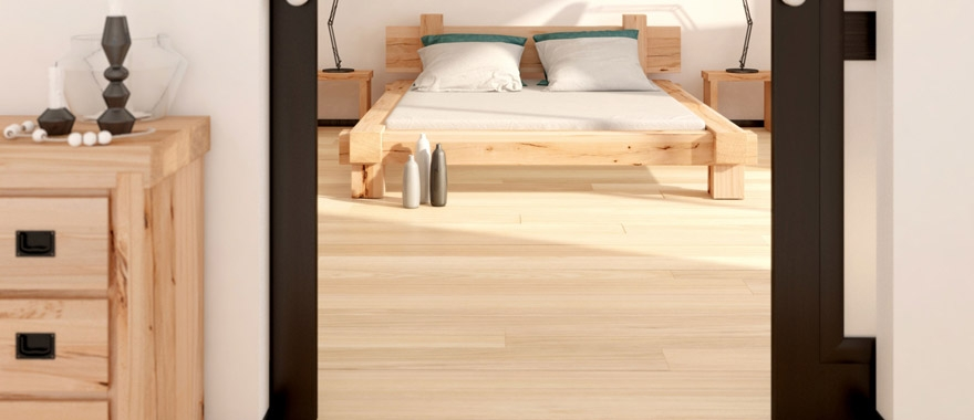 Łóżko dębowe Muscari lity dąb