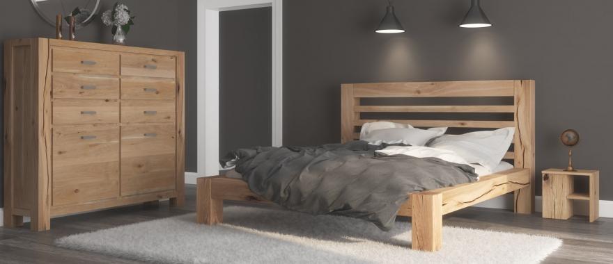 Meble dębowe Syringa komplet do sypialni