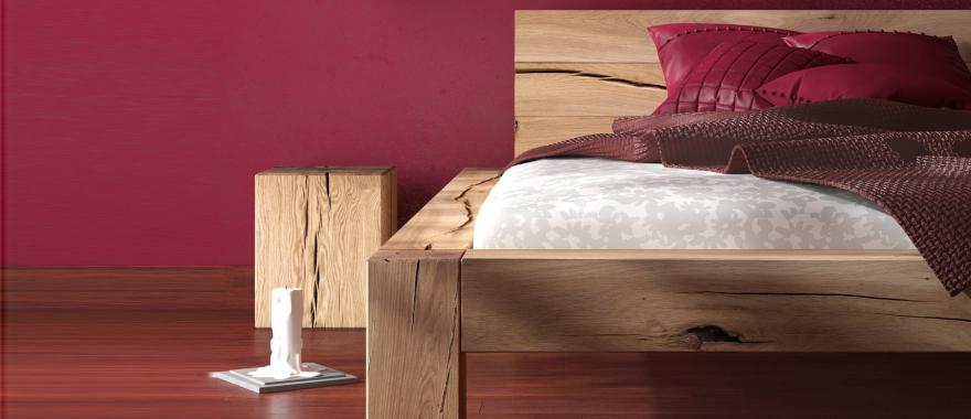 Szafka nocna i łóżko Syringa lity dąb