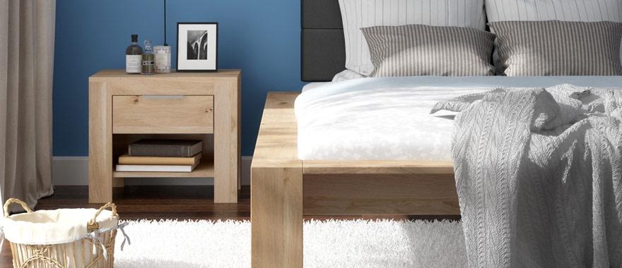 Solidne łóżko dębowe do sypialni