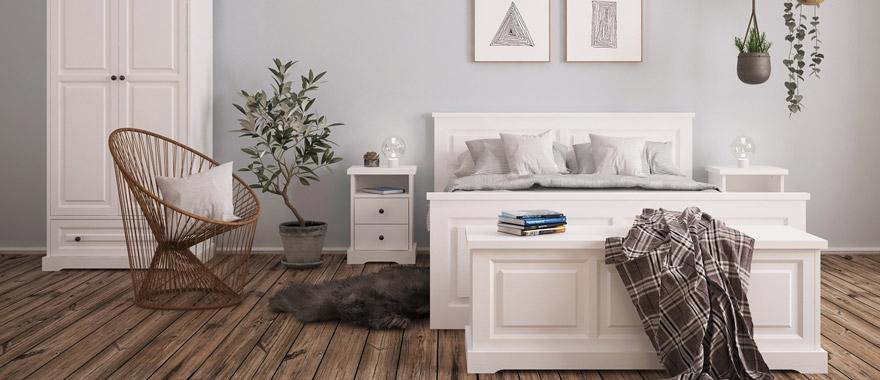 Białe meble drewniane Parma